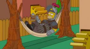 Los Simpson homenajean a Juego de Tronos en la cabecera de su último episodio