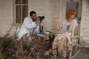 "Denzel Washington y Kelly Reilly en ""El Vuelo""."