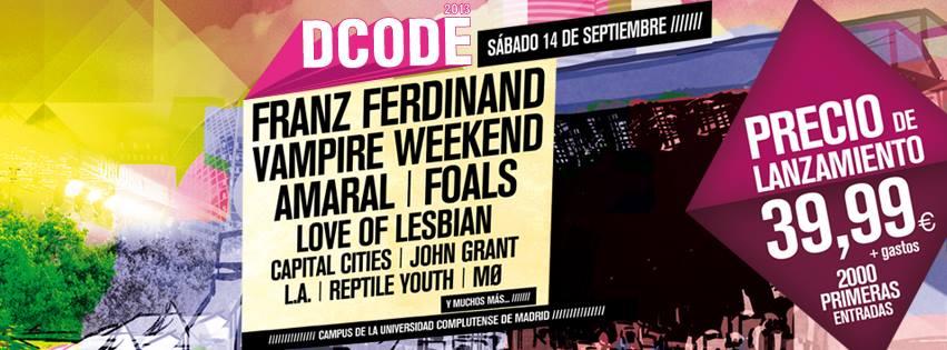 Primeras confirmaciones Dcode 2013: Franz Ferdinand, Vampire Weekend, Amaral, Foals…