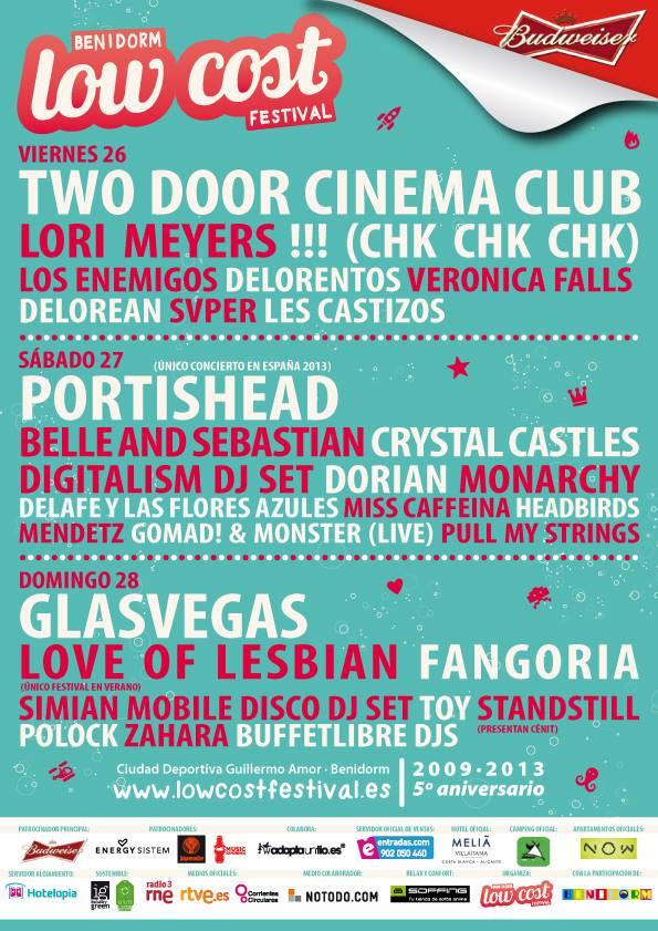 Low Cost Festival (cartel por días)