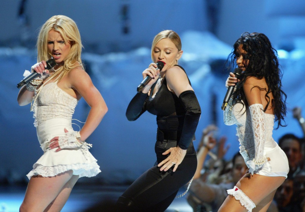 Britney Spears, Madonna, and Christina Aguilera