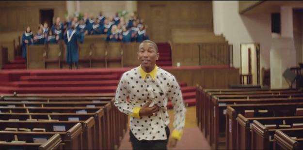 Pharrell Williams estrena el primer videoclip de 24 horas con Happy