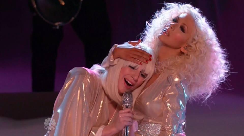 La Noche Que Christina Aguilera No Tuvo Que Opacar a Lady Gaga Lady-gaga-christina-aguilera-do-what-you-want-the-voice