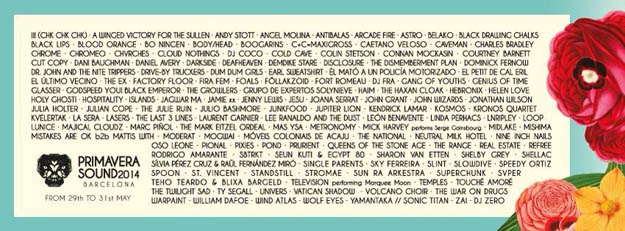 Primavera Sound 2014-cartel