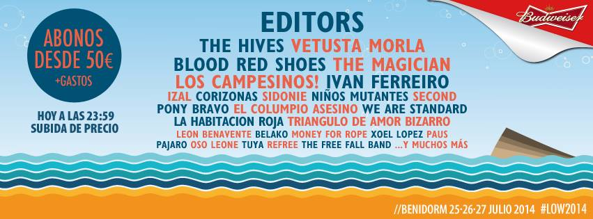 [Agenda] Blood Red Shoes, Vetusta Morla, The Magician y muchas más novedades en Low Festival