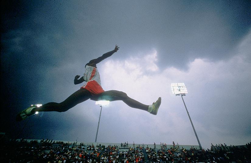 Fotografía deporte Walter Iooss Larry Myrics, Indianapolis, In, 1984