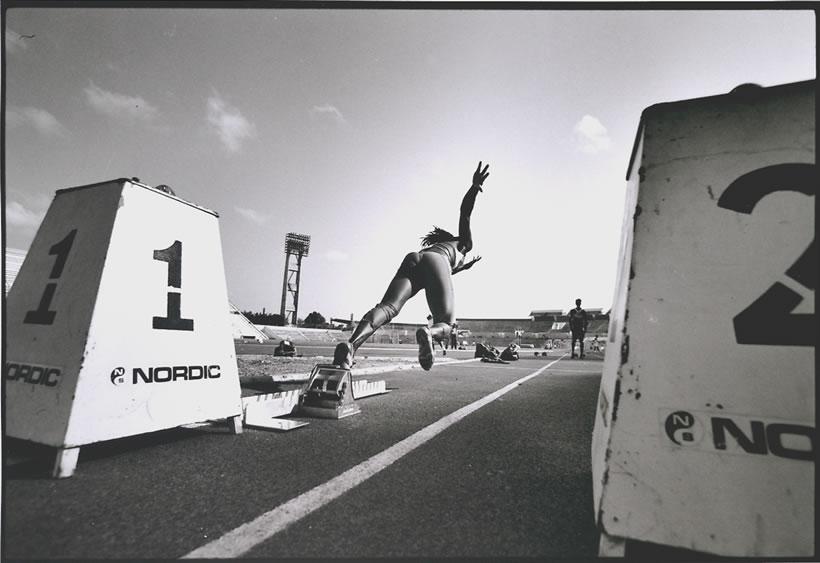 Fotografía deporte Walter Iooss cuba runner