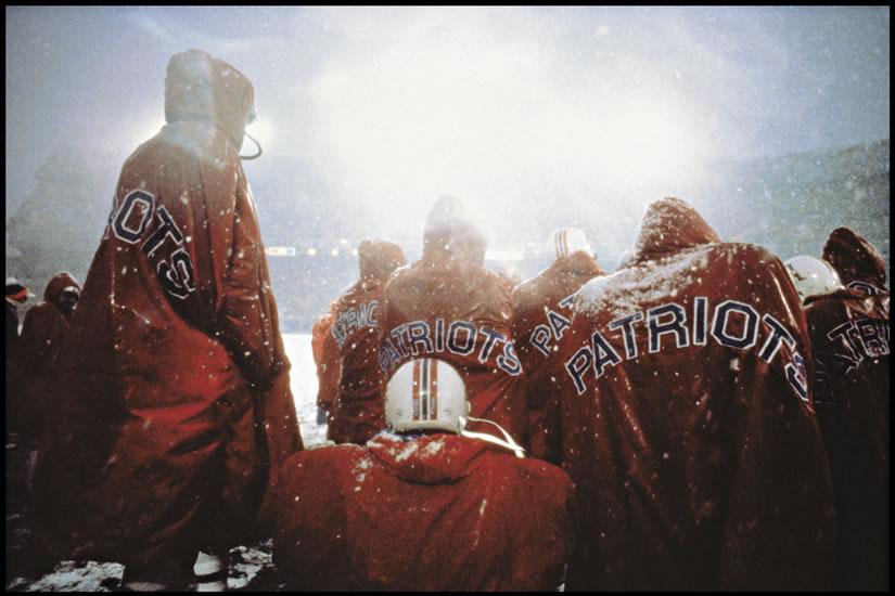 Fotografía deporte Walter Iooss Patriots Bench, Denver 1979