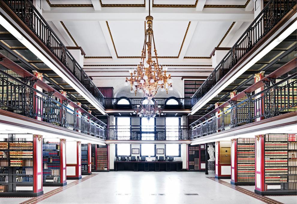 fotografía Candida Höfer Biblioteca Fisher, Philadelphia, EEUU