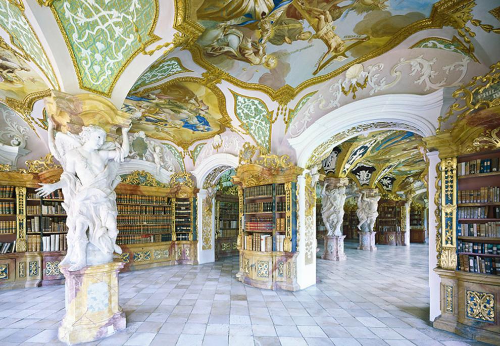 fotografía Candida Höfer Biblioteca de la Abadía de Metten, Alemania