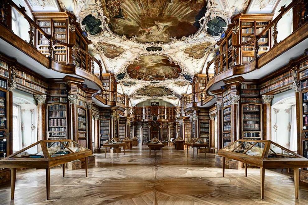 fotografía Candida Höfer Biblioteca de la Abadía de St. Gallen, Suiza