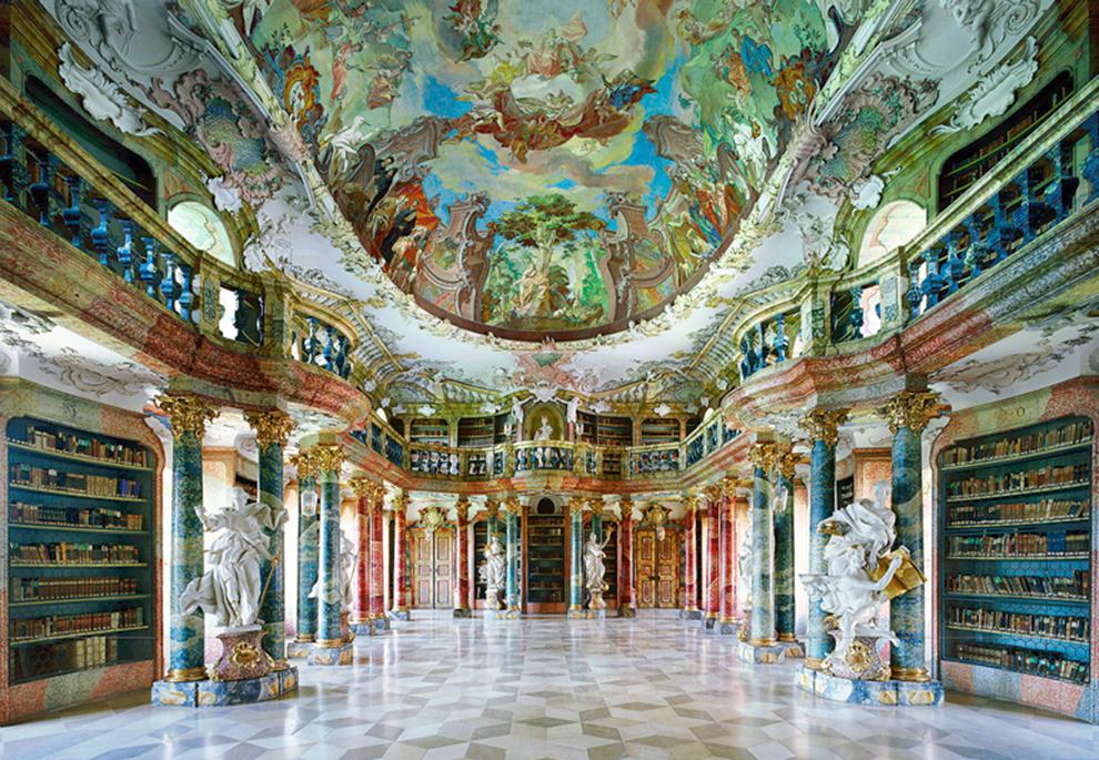 fotografía Candida Höfer Biblioteca de la Abadía de Wiblingen, alemania