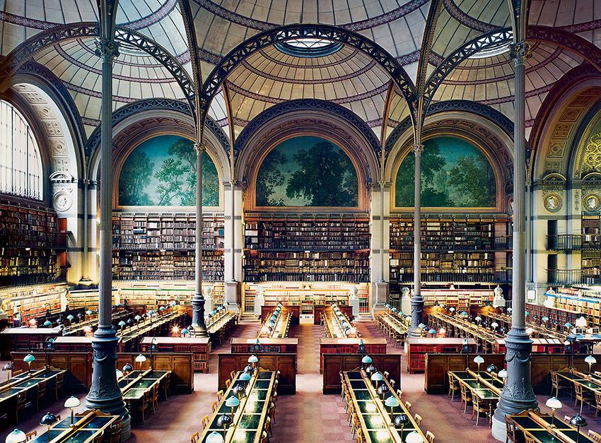 fotografía Candida Höfer Bibliothèque Nationale de France