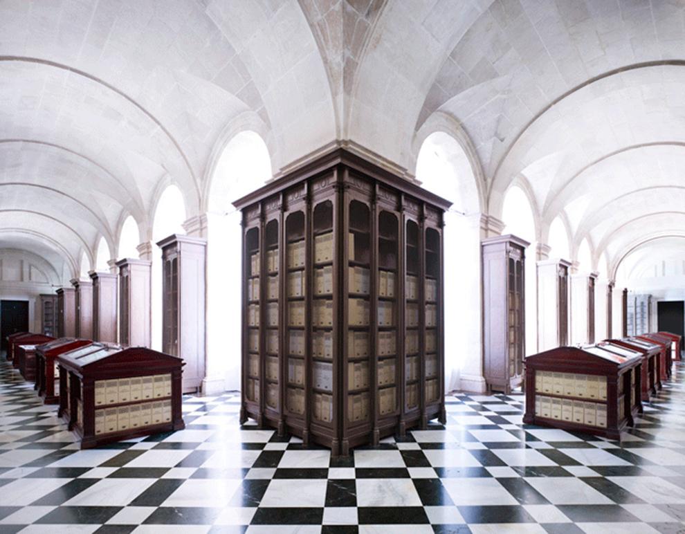 fotografía Candida Höfer Archivo General de las Indias, Sevilla