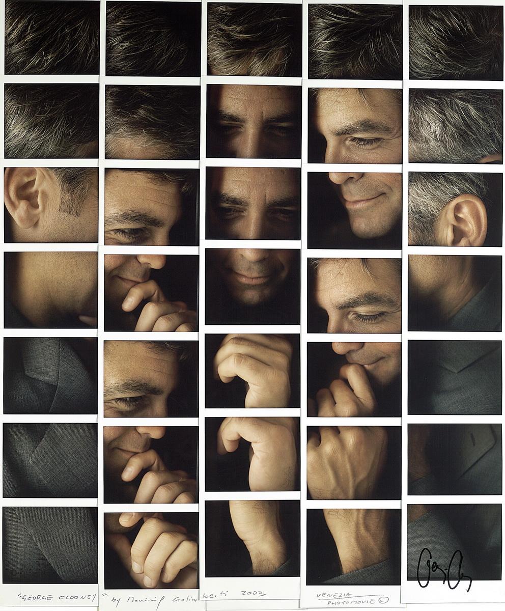Fotografía - Maurizio Galimberti - Mosaicos polaroid - George-Clooney