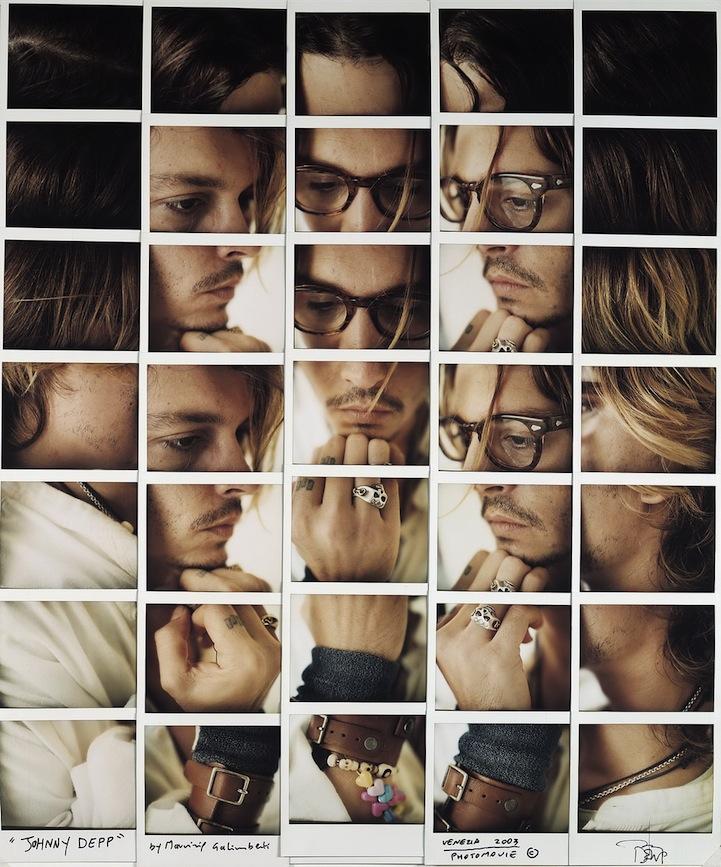 Fotografía - Maurizio Galimberti - Mosaicos polaroid - Johnny Depp