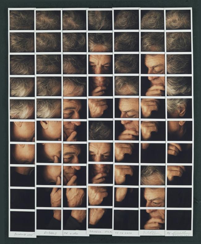 Fotografía - Maurizio Galimberti Mosaicos polaroid - robert Deniro