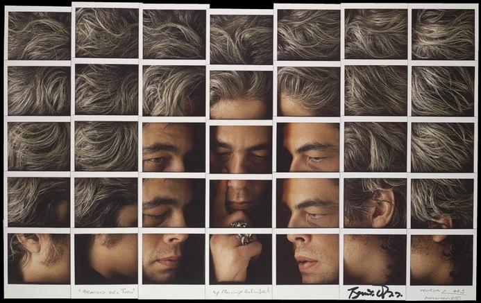 Fotografía - Maurizio Galimberti - Mosaicos polaroid - Benicio del Toro