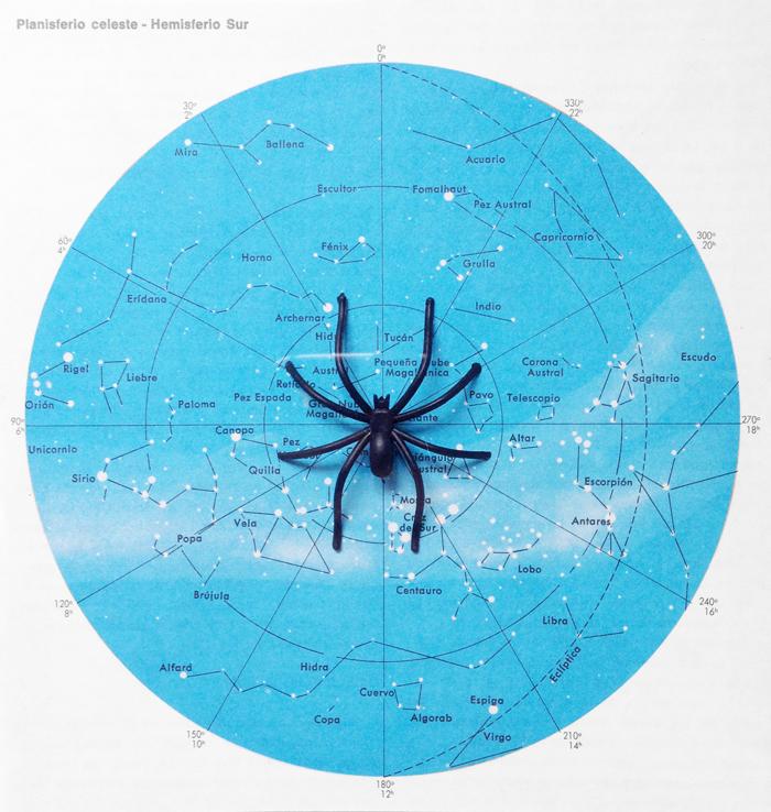 Erre Gálvez, collage - Araña galáctica