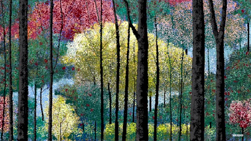 Hal Lasko, the pixel painter - Puntillismo 9