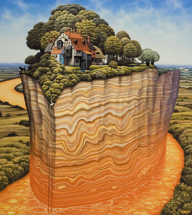 Ilustración - Jacek Yerka, surrealismo 17