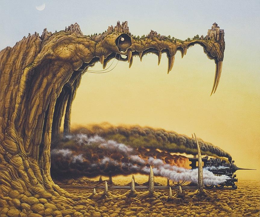 Ilustración - Jacek Yerka, surrealismo 8