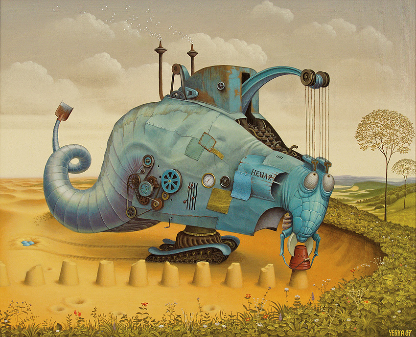 Ilustración - Jacek Yerka, surrealismo 13