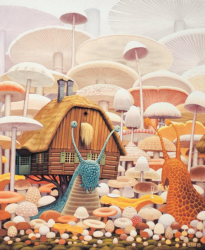 Ilustración - Jacek Yerka, surrealismo 1