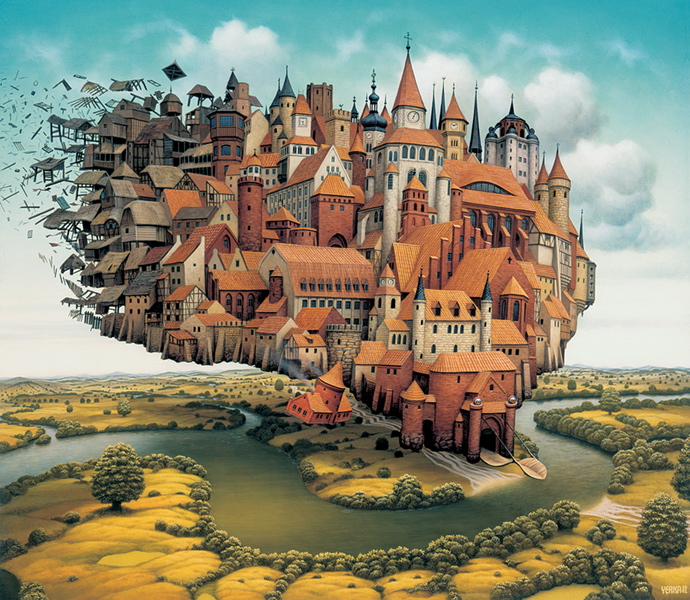 Ilustración - Jacek Yerka, surrealismo 6