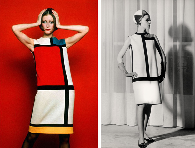 La moda muerde al arte, Yves Saint Laurent, Mondrian