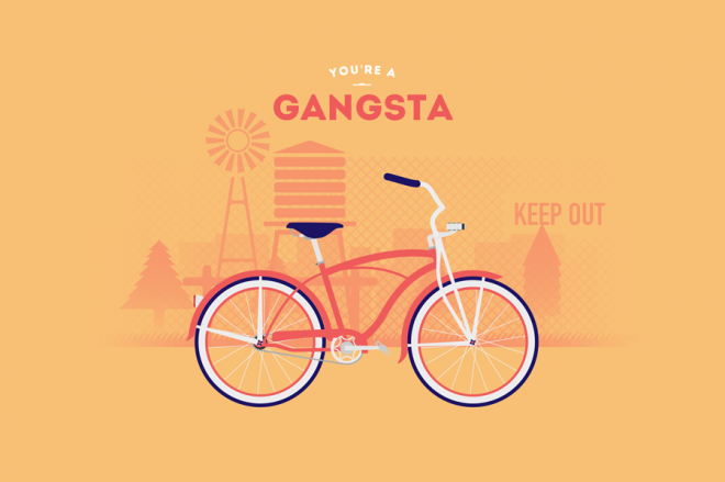 Cyclemon -Ilustración - gangsta