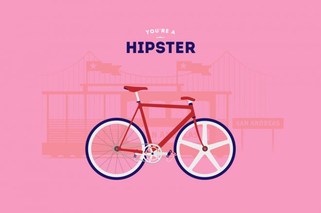Cyclemon -Ilustración - hipster