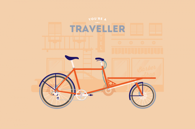 Cyclemon -Ilustración - traveller
