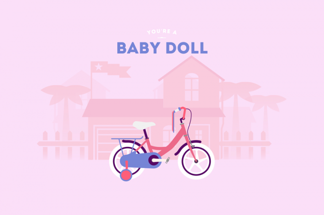 Cyclemon -Ilustración babydoll