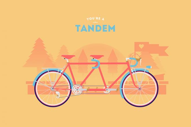 Cyclemon -Ilustración - tandem