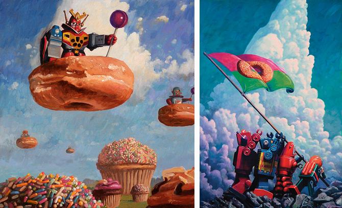 Ilustración Eric Joyner, robots y donuts 15