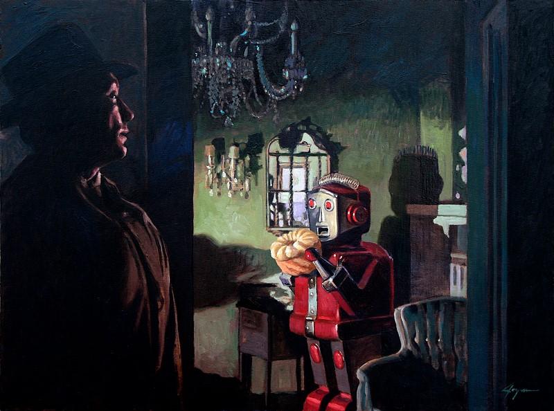 Ilustración Eric Joyner, robots y donuts 9