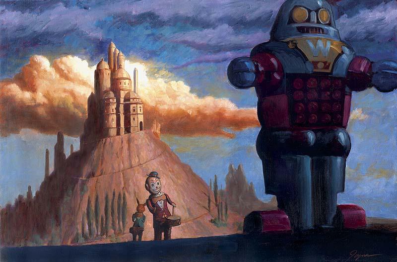 Ilustración Eric Joyner, robots y donuts 14