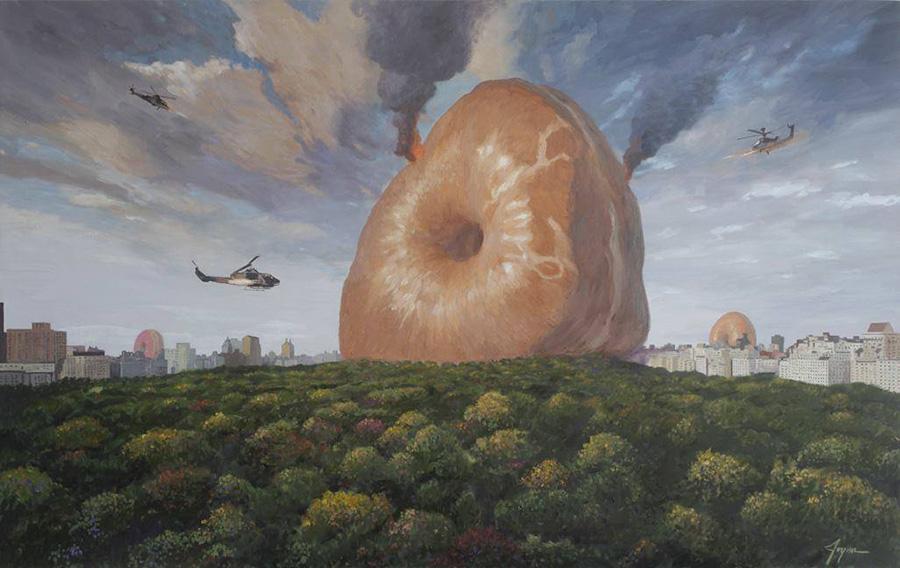 Ilustración Eric Joyner, robots y donuts 5
