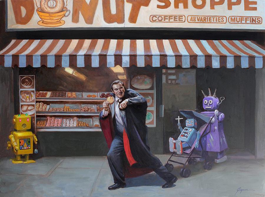 Ilustración Eric Joyner, robots y donuts 6