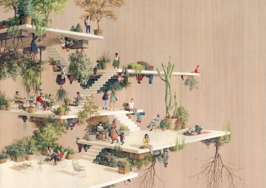 Gravitant: estructuras imposibles y juegos visuales de Cinta Vidal